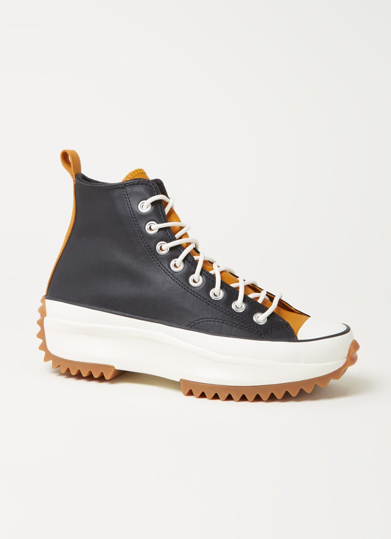 Converse - Baskets en cuir Run Star Hike Hi - Noir