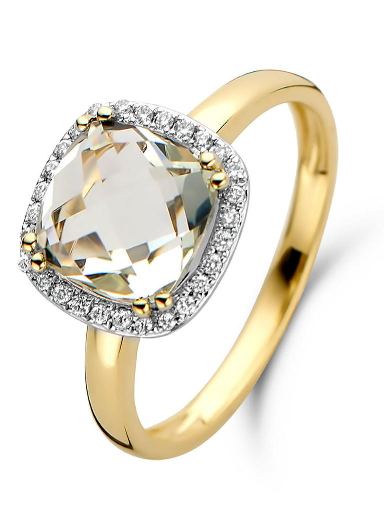 Diamond Point - Bague or jaune 2.40 ct améthyste verte Fiësta - Or jaune