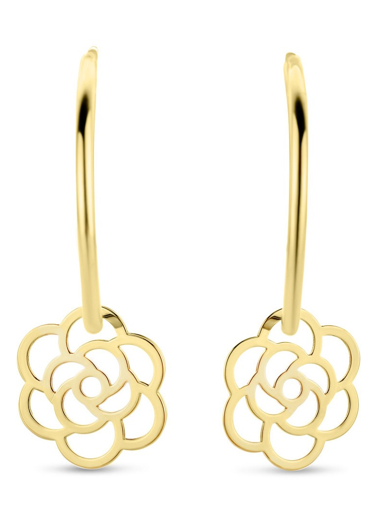 Diamond Point - Boucles d'oreilles en or jaune Marigold - Or jaune