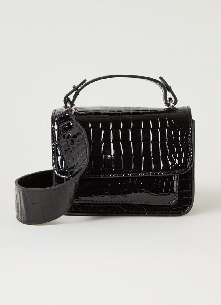Hvisk - Mini sac Renei structure croco - Noir